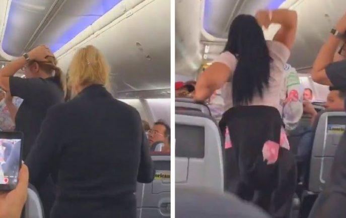 Kobieta zaatakowała swojego partnera w samolocie za... spojrzenie na inną
