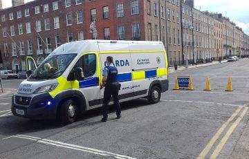 Uzbrojona Garda oddelegowana do kontroli rejonu przygranicznego