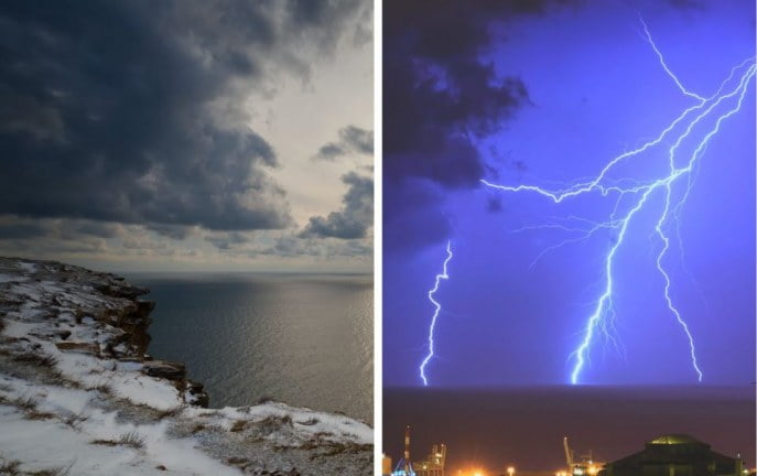 Grad, burze i śnieg – Met Eireann prognozuje okropną pogodę