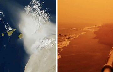 """Burza piaskowa """"Calima"""" szaleje na Wyspami Kanaryjskimi"""