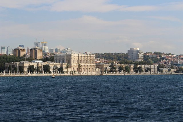 The Prince Islands: how to get, places to see, things to do | View of Dolmabahce from the ferry