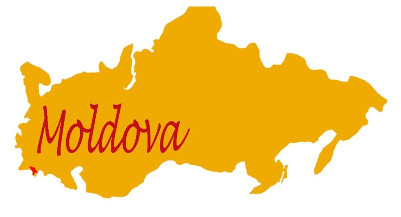 Moldova on the map
