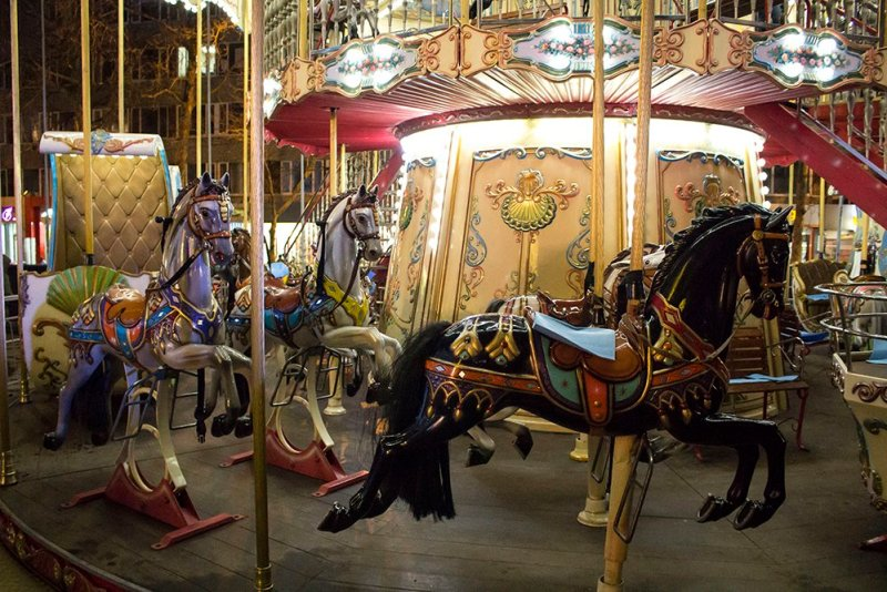 Christmas Fair in Chisinau, Moldova | Merry-go-round at the main Christmas fair