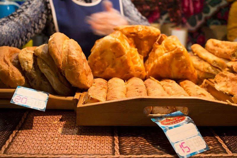 Christmas Fair in Chisinau, Moldova   Traditional Moldovan placintas