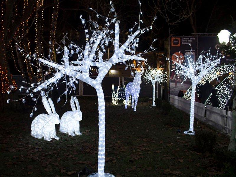 Christmas Fair in Chisinau, Moldova   Sculptures at the Orange Christmas Fair