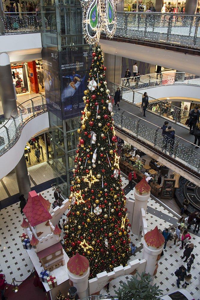 Christmas Fair in Chisinau, Moldova   Christmas tree at Malldova