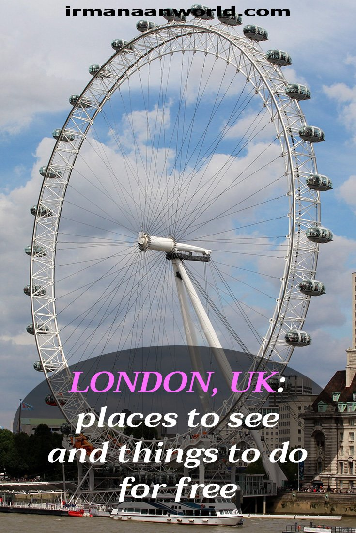 Places to see and things to do for free in London, UK | Places to visit for free in London, UK | What to see in London, UK, for free