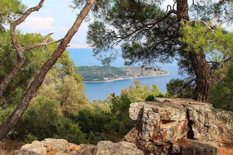 Один день на Бююкада, Принцевы острова, Стамбул | Вид с холма