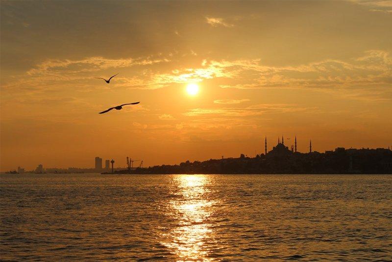 Один день на Бююкада, Принцевы острова, Стамбул | Закат над Стамбулом