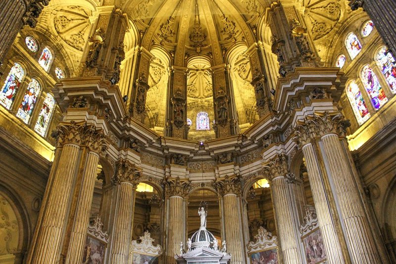 3 Weeks of Solo Travel in Spain: What to do in Malaga | Inside the Cathedral