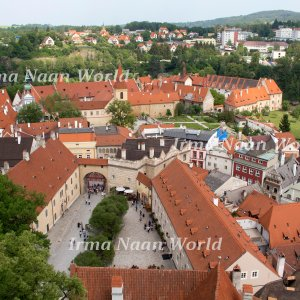 Cesky Krumlov view from the tower