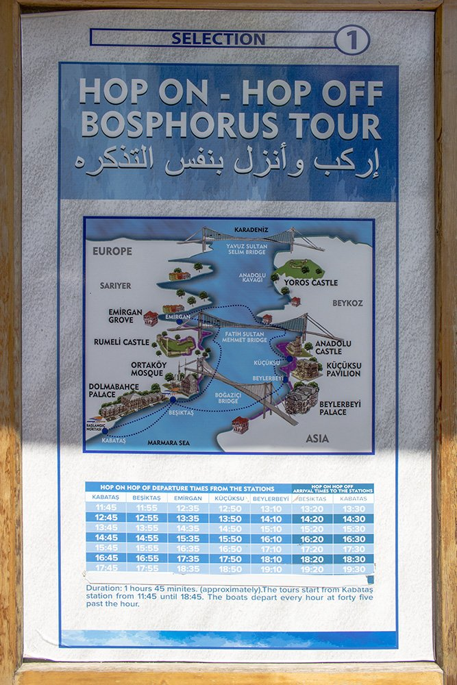 20 useful travel tips for Istanbul   The timetable and route for the Bosphorus tour