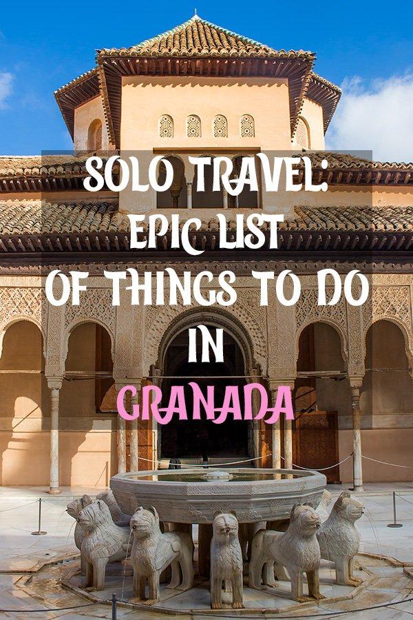 Solo Travel in Spain: things to do in Granada   Places to see in Granada, Spain   What to see in Granada, Spain   Things to see in Granada, Spain   What to do in Granada, Spain