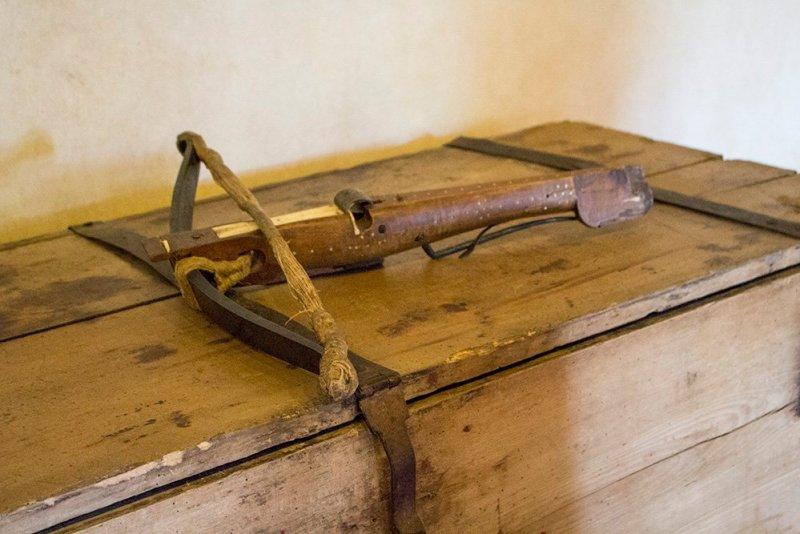 From Prague to Karlstejn Castle, Czech Republic | A crossbow in Karlstejn Castle