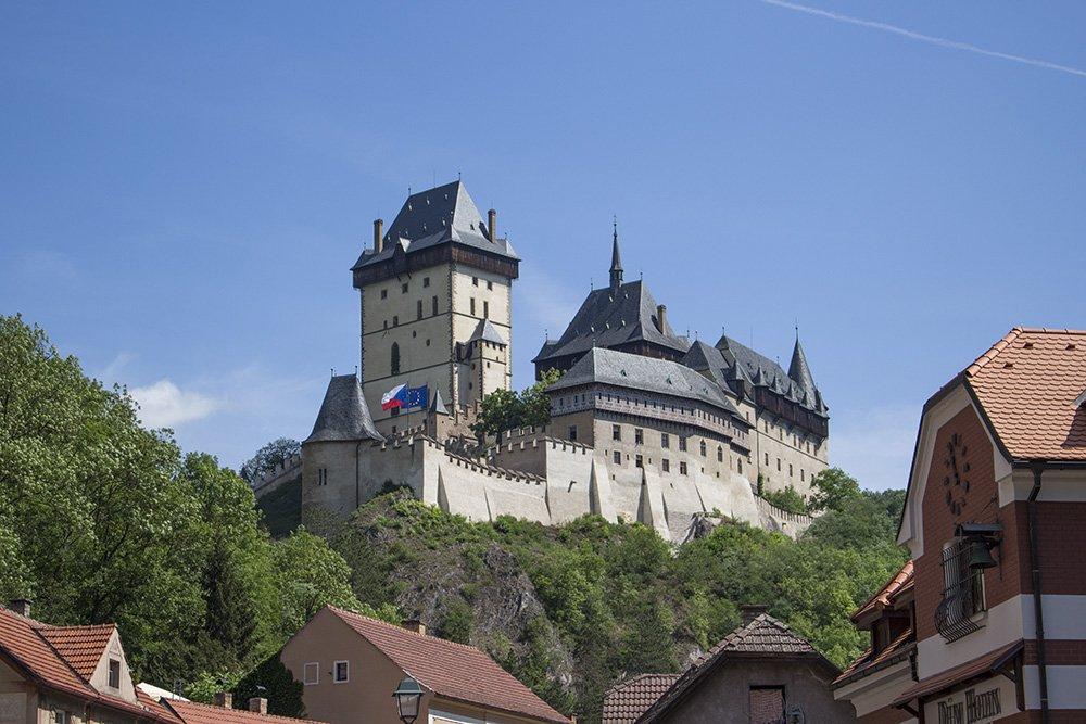 To Karlstejn Castle from Prague, Czech Republic