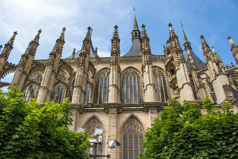 Kutna Hora on a day trip from Prague: things to do | The walls of St Barbara Church in Kutna Hora