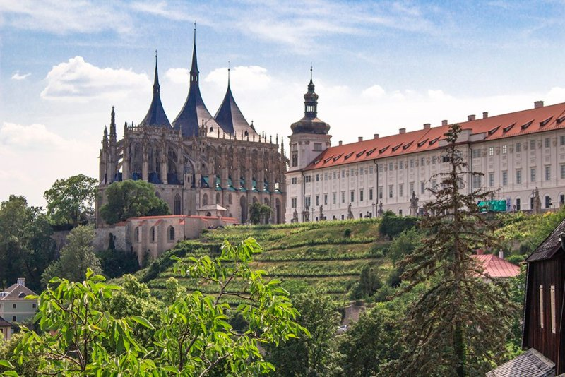 Kutna Hora on a day trip from Prague: things to do | View from the Church of Saint James in Kutna Hora