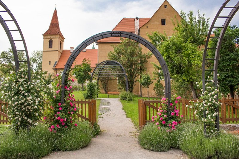 A day trip from Prague to Cesky Krumlov Castle   Monastery of the Minorites of the Poor Clares and the garden