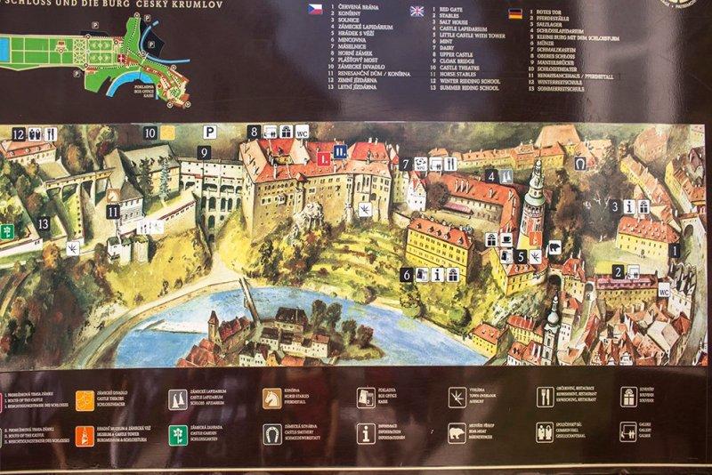 A day trip from Prague to Cesky Krumlov Castle | Plan of Cesky Krumlov Castle