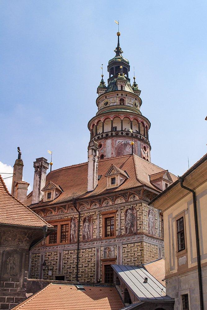 A day trip from Prague to Cesky Krumlov Castle   The Tower of Cesky Krumlov Castle