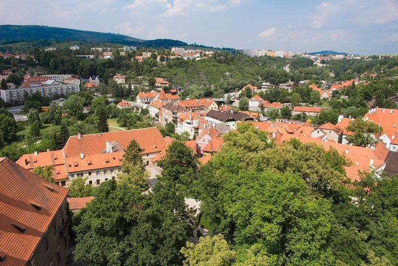A day trip from Prague to Cesky Krumlov Castle | View from the Tower of Cesky Krumlov Castle