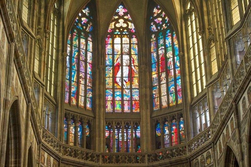 Inside St Vitus Cathedral in Prague Castle