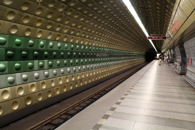 Malostranska metro station in Prague