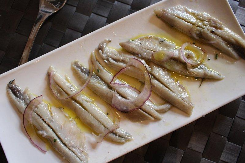 Marinated anchovies tapas