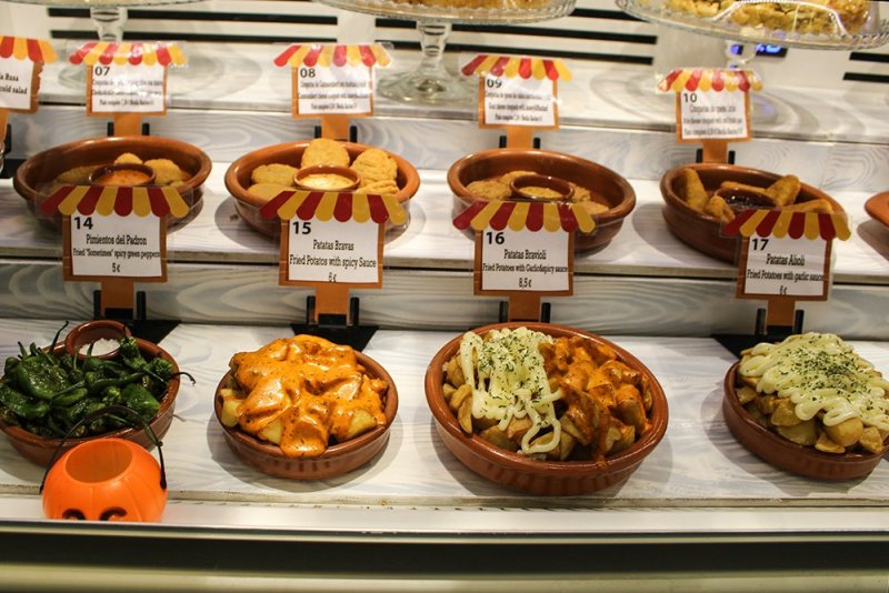 Patatas bravas and aioli tapas in Spain