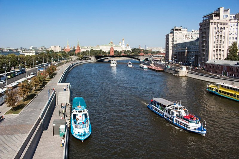 View from Patriarshy Bridge in Moscow