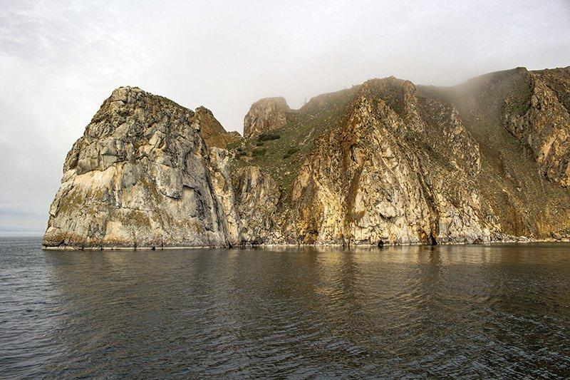 Rocky shores of Olkhon Island