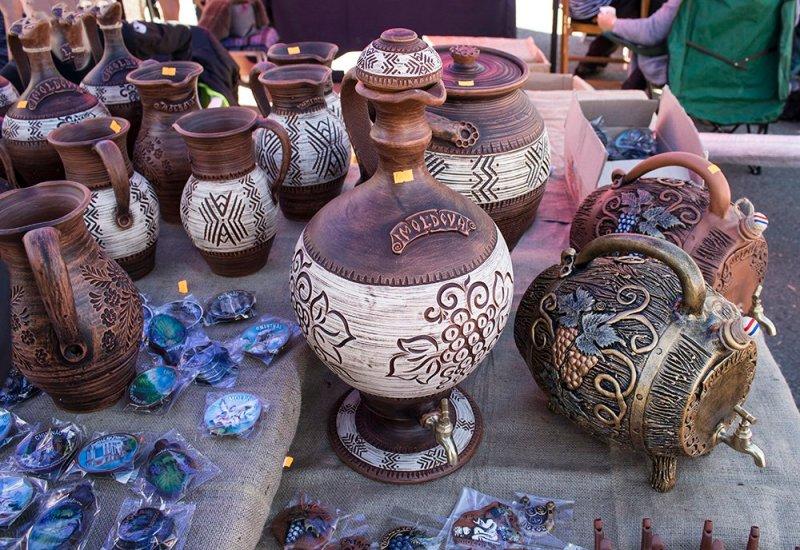 Artisanal goods at the Wine Festival in Chisinau