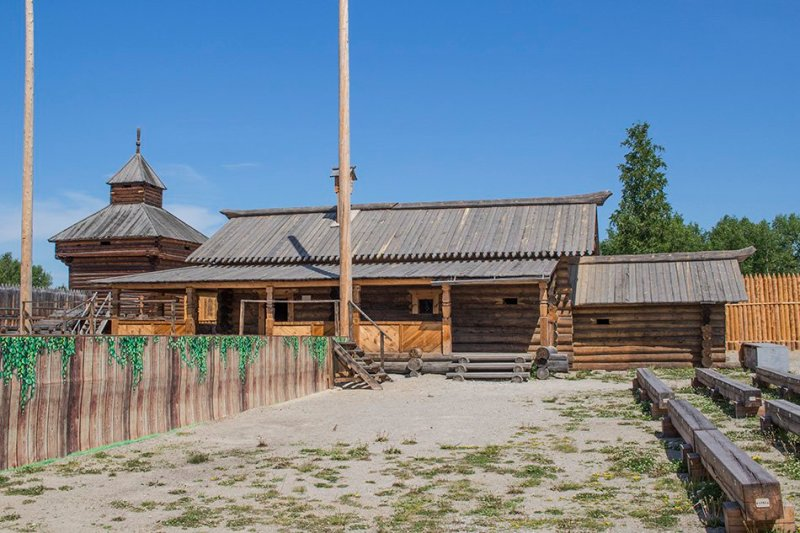 Buildings of Ilimsky Ostrog in Taltsy Museum
