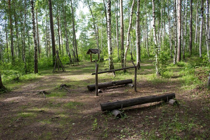Evenk campground at Taltsy Museum