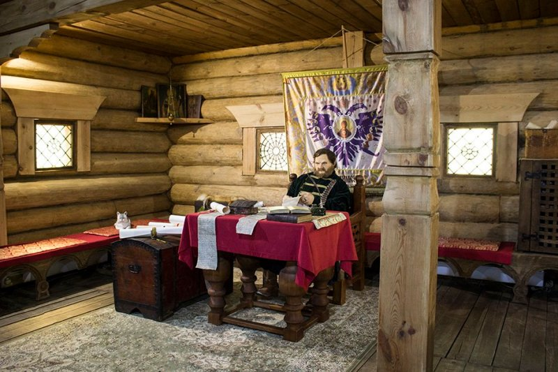 Inside a building at Ilimsky Ostrog