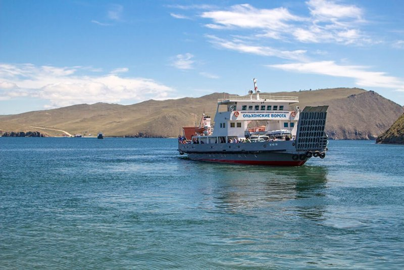 Ferry to Olkhon Island