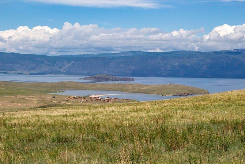 Khankhoy Lake in Olkhon