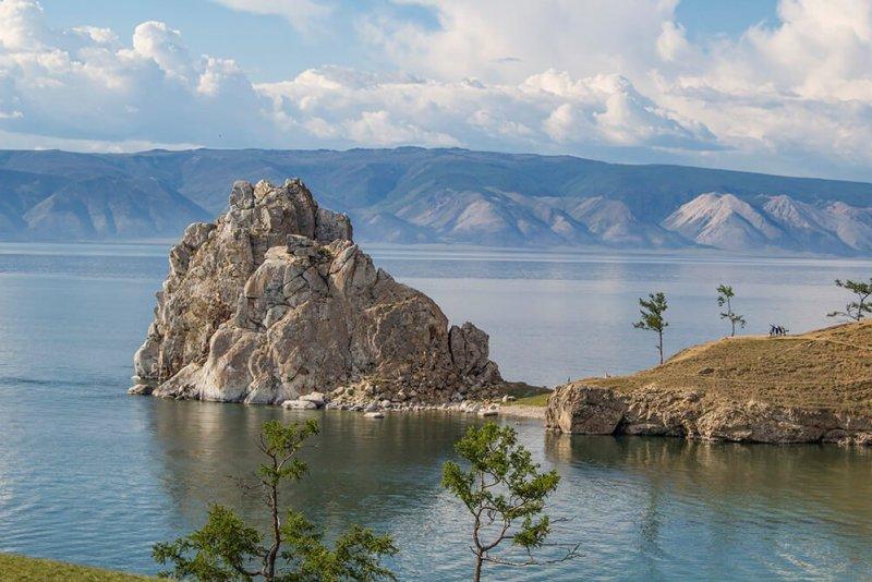 Shamanka Rock on Olkhon Island