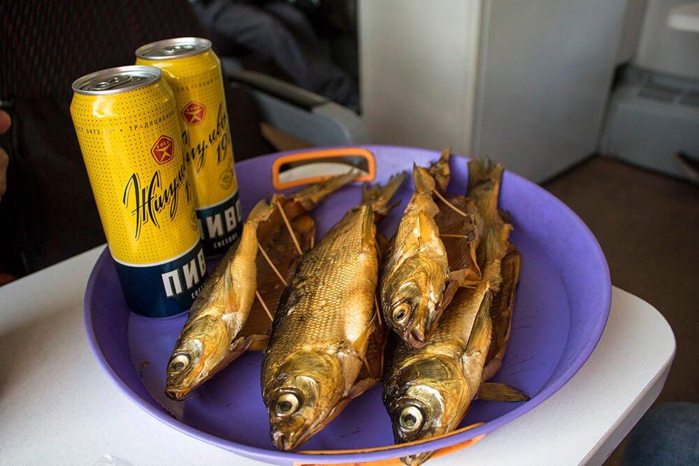 Local food around Baikal Lake