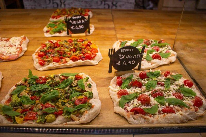 Pinsas at Pinsa Mpo in Rome, Italy