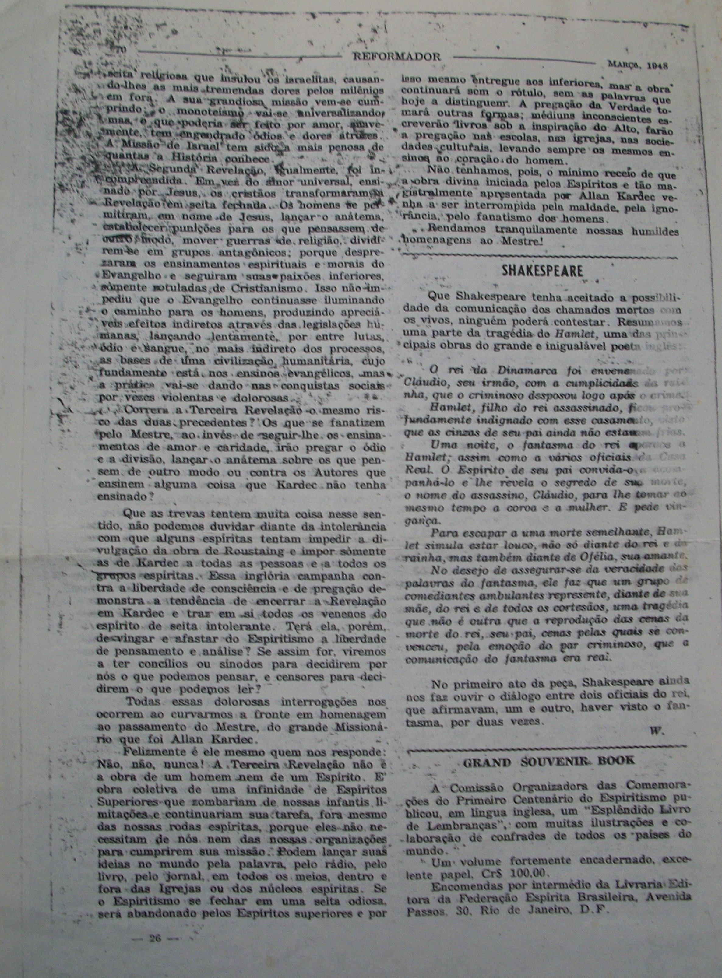 O REFORMADOR - MARÇO 1948 - ISMAEL GOMES BRAGA-2