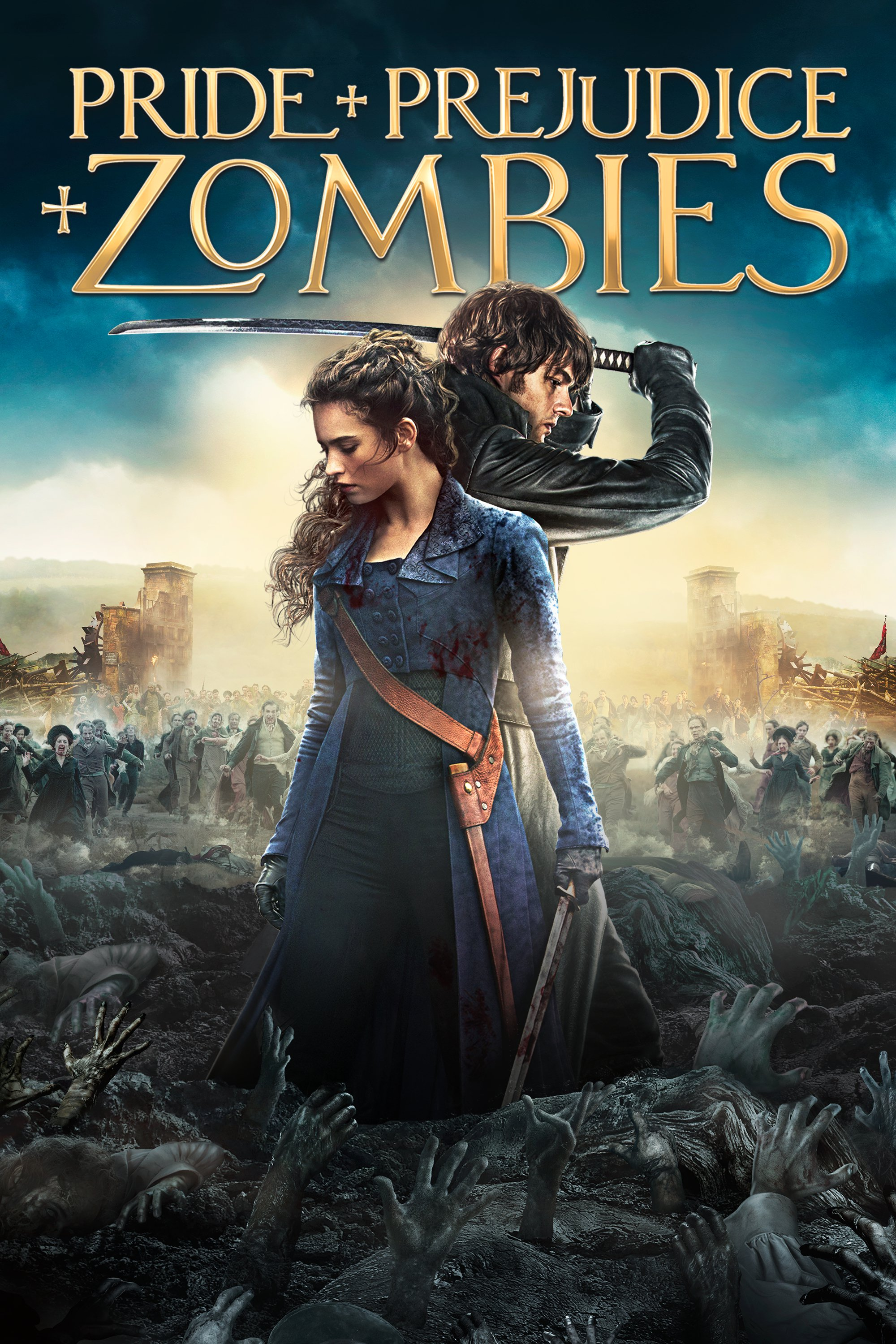 """Poster for the movie """"Pride and Prejudice and Zombies"""""""