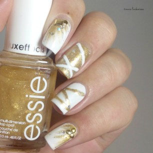 nailart silvester new years eve white and gold (1)