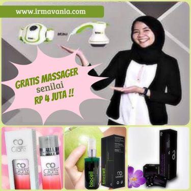bonus massager dari moment peluang usaha di rumah irma vania surabaya
