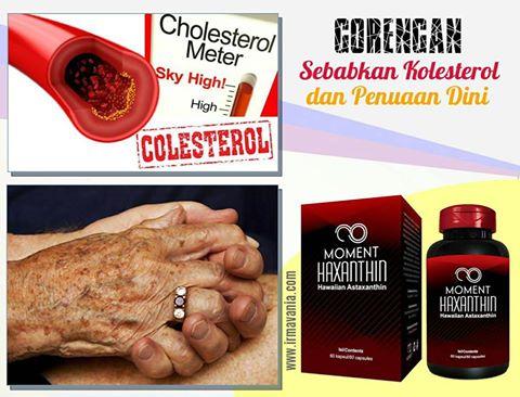 haxanthin cara menurunkan kolesterol irma vania surabaya