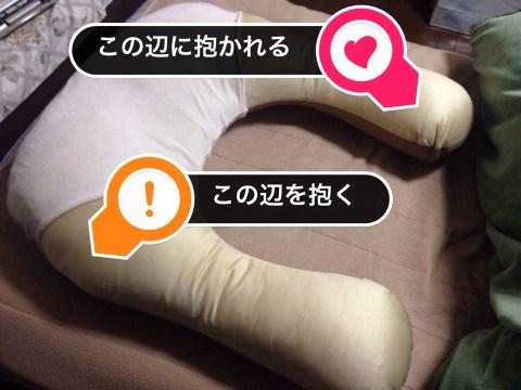 抱かれ枕 抱き合う