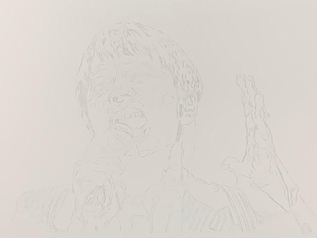 色鉛筆 徳永英明 似顔絵 イラスト