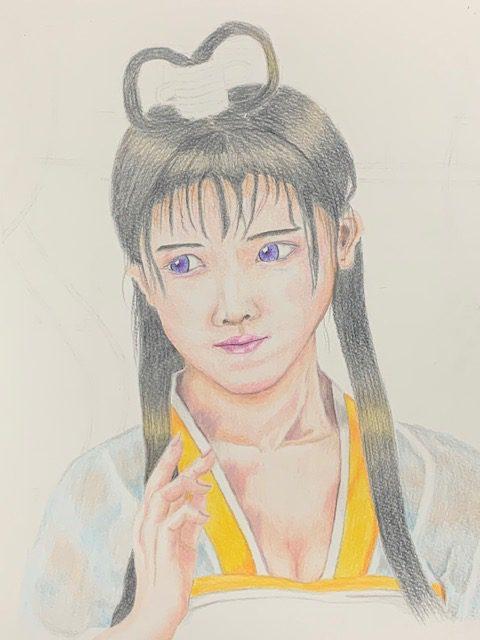 色鉛筆 織姫 昔話 イラスト