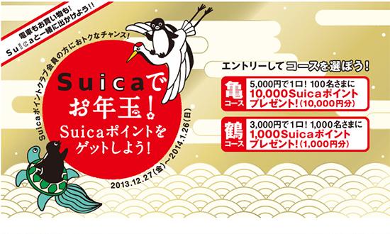 Suicaでお年玉!キャンペーン