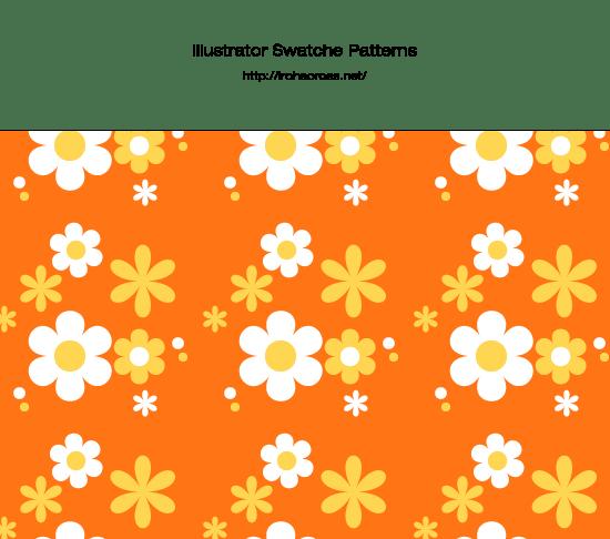 昭和レトロポップな花柄